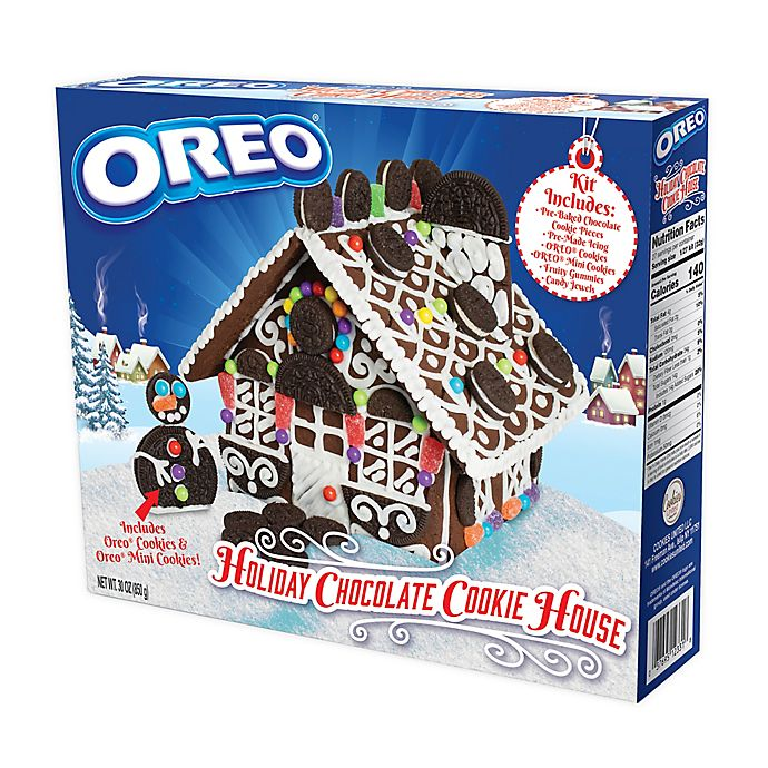 Alternate image 1 for Cookies United 30 oz. OREO Holiday Chocolate Cookie House