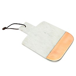 Godinger® Marble and Copper 12-Inch x 8-Inch Serving Board in White