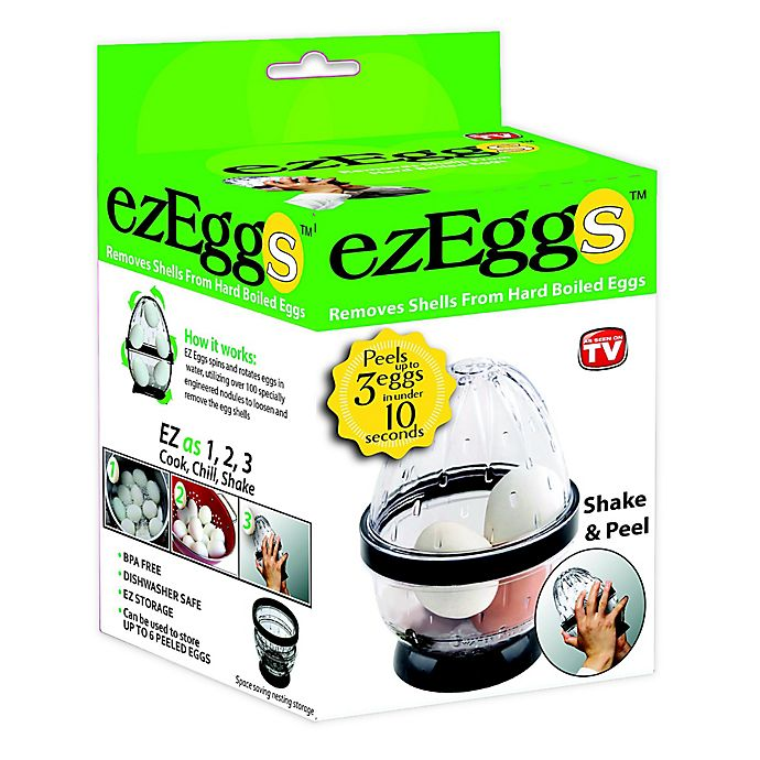 Alternate image 1 for ezEggs 3 Egg Peeler in Black