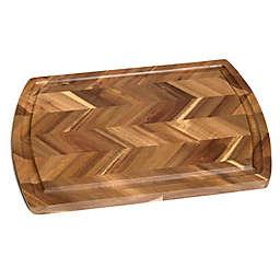 Lipper International 18-Inch x 12-Inch Acacia Herringbone Chopping Board