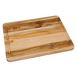 Lipper International Large Teak Edge Grain Cutting Board