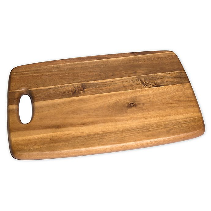 Alternate image 1 for Lipper International Acacia Rectangular Cutting Board with Cut Out Handle