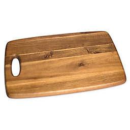Lipper International Acacia Rectangular Cutting Board with Cut Out Handle