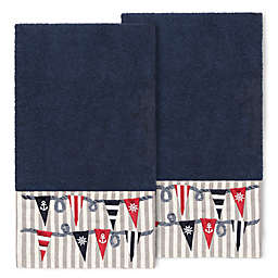 Linum Home Textiles Ethan Bath Towels in Midnight Blue (Set of 2)