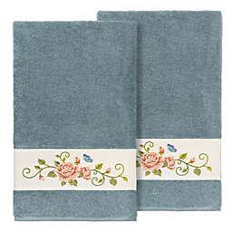 Linum Home Textiles Rebecca Bath Towels in Teal (Set of 2)