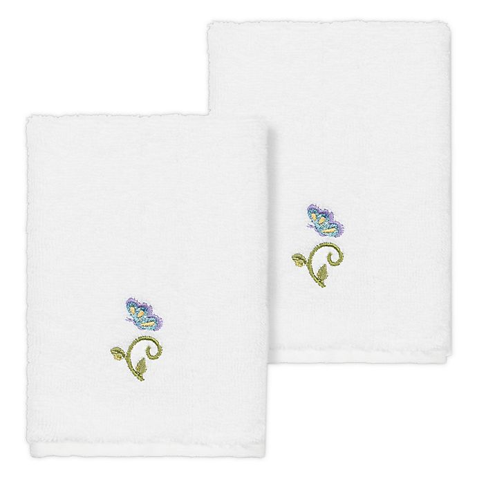 Alternate image 1 for Linum Home Textiles Rebecca Washcloths (Set of 2)