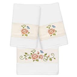 Linum Home Textiles 3-Piece Rebecca Bath and Hand Towel Set