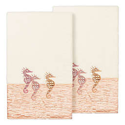 Linum Home Textiles Sofia Bath Towels in Cream (Set of 2)