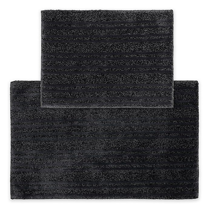 Alternate image 1 for Grand Isle 2-Piece Bath Rug Set in Dark Grey