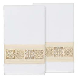 Linum Home Textiles Vivian Bath Towels in White (Set of 2)