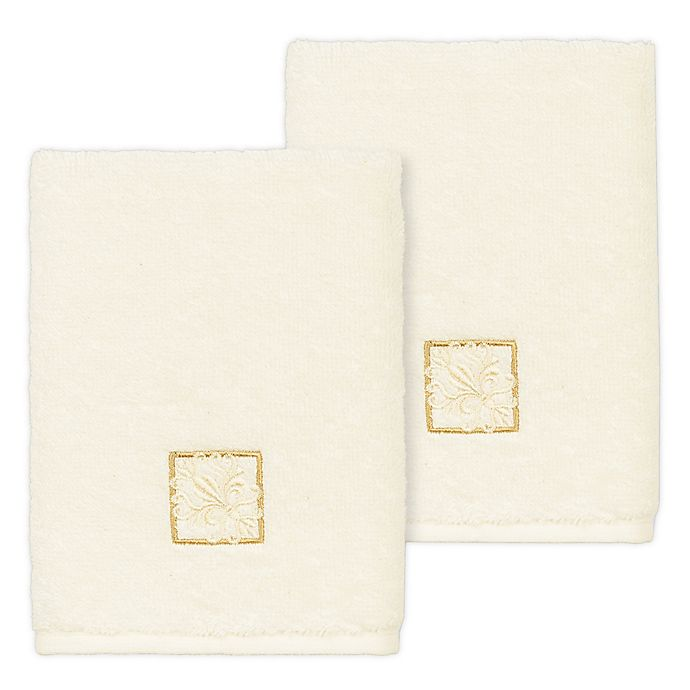 Alternate image 1 for Linum Home Textiles Vivian Washcloths (Set of 2)