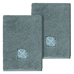 Linum Home Textiles Vivian Washcloths in Teal (Set of 2)