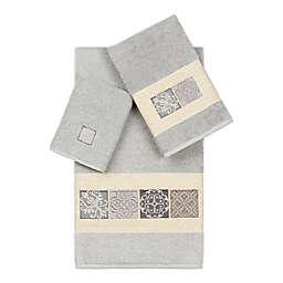 Linum Home Textiles Vivian 3-Piece Bath Towel Set in Light Grey