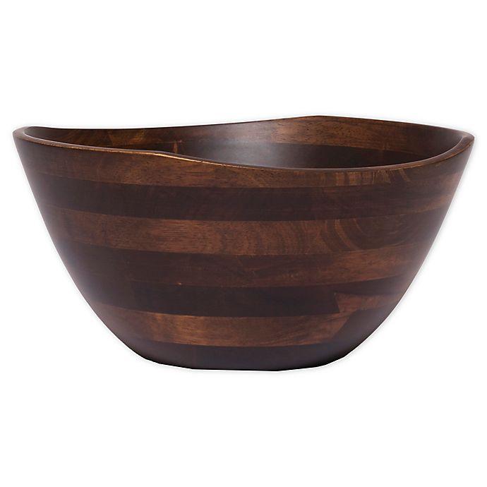 Alternate image 1 for Lipper Walnut 11.75-Inch Salad Bowl