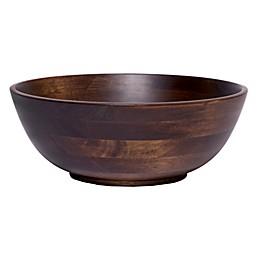 Lipper Walnut 11-Inch Salad Bowl