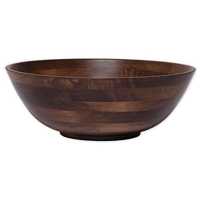 Alternate image 1 for Lipper Walnut 14-Inch Salad Bowl