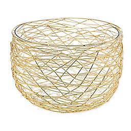 Godinger® Nest Wire Salad Bowl in Gold
