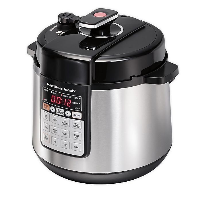 Alternate image 1 for Hamilton Beach® Multi-Function Stainless Steel Pressure Cooker