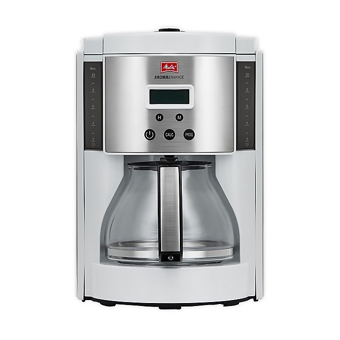 Alternate image 1 for Melitta® Aroma Enhance 10-cup Glass Carafe Coffee Maker in White
