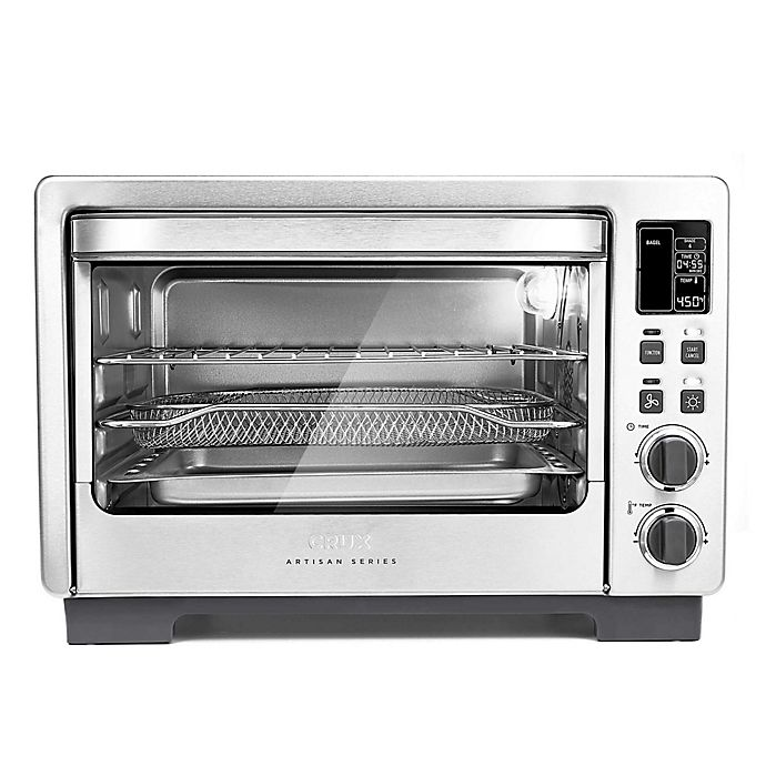 Alternate image 1 for CRUX® Artisan Series 6 Slice Digital Air Frying Toaster Oven