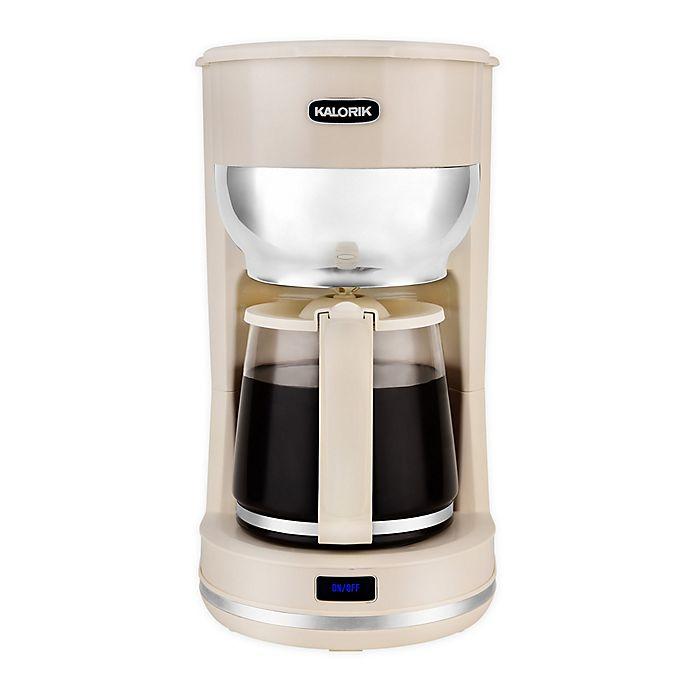 Alternate image 1 for Kalorik 10-Cup Retro Coffee Maker in Cream