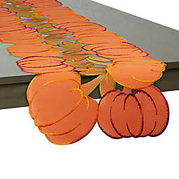 Embroidered Pumpkin 60-Inch Table Runner