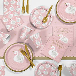 Creative Converting™ 81-Piece Stylish Swan Birthday Party Supplies Kit in Pink