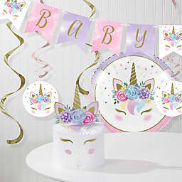 Creative Converting™ Unicorn Baby Shower Party Decorations Kit in Pink