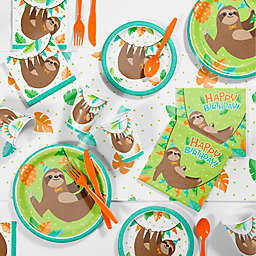 Creative Converting™ 81-Piece Sloth Birthday Party Supplies Kit