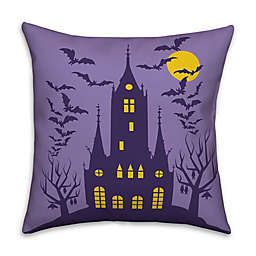 Designs DIrect Haunted House Square Throw Pillow in Purple