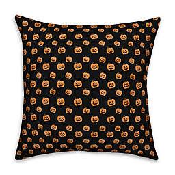 Designs Direct Pumpkin Pattern Throw Pillow in Black