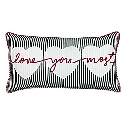 """""""Love You the Most"""" Oblong Throw Pillow"""