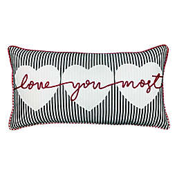 """Love You the Most"" Oblong Throw Pillow"