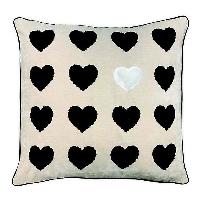Alternate image 1 for Pop of Heart Square Throw Pillow