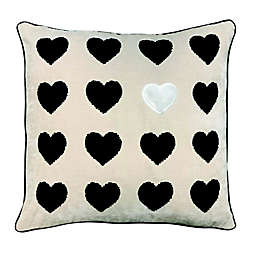 Pop of Heart Square Throw Pillow