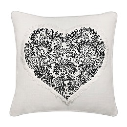 Heart Square Throw Pillow