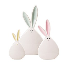 Home Essentials & Beyond Ceramic Easter Bunnies in White (Set of 3)