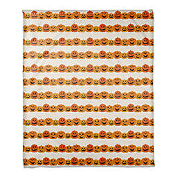 Pumpkin Pattern 50x60 Throw in ORANGE