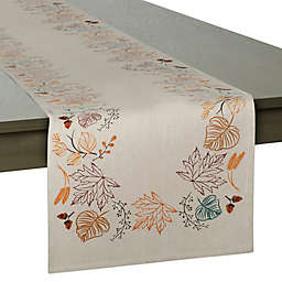 Autumn Leaves Embellished 72-Inch Table Runner