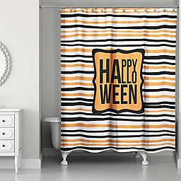Halloween Stripes 71x74 Shower Curtain