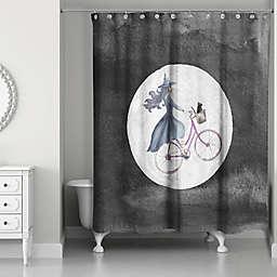 Witch Bike 71x74 Shower Curtain