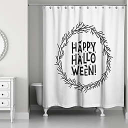 Happy Halloween Wreath 71x74 Shower Curtain