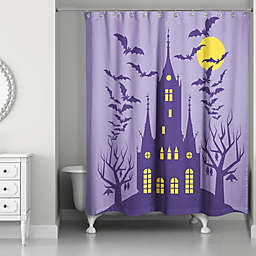 Haunted House 71x74 Shower Curtain