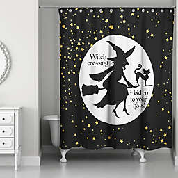 Witch on Broom 71x74 Shower Curtain