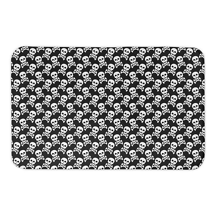 Alternate image 1 for SKULL PATTERN 34X21BATH MAT