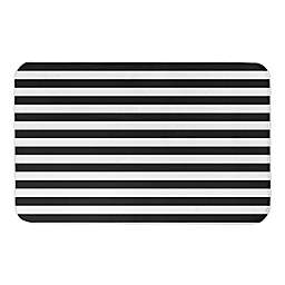 BLACK AND WHITE STRIPES 34X21BATH MAT