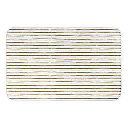 "Designs Direct Gold Abstract Lines 34"" x 21"" Bath Mat"