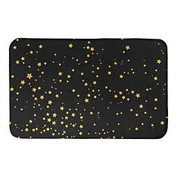 "Designs Direct Gold Stars 34"" x 21"" Bath Mat"