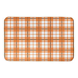 HALLOWEENPLAID 34X21BATH MAT