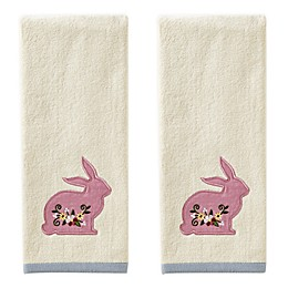 Easter Bunny Hand Towels in Natural (Set of 2)